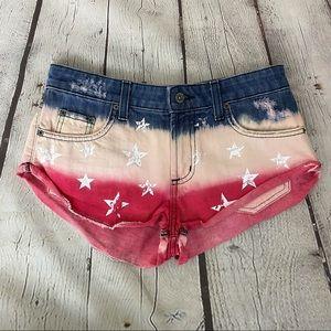 LF Carmar American Flag Jean Shorts Size 27 NWT